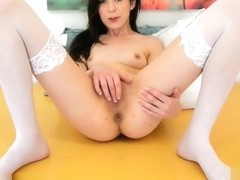 Ariel Grace shows her succulent little pussy off