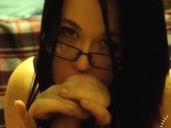 Handcuffs & Lace Late Night Blowjob