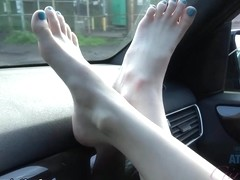 Ariel Grace in Ariel Takes A Road Trip, But Also Teases You In The Car - ATKGirlfriends