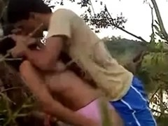 indonesian hotty drilled in jungle