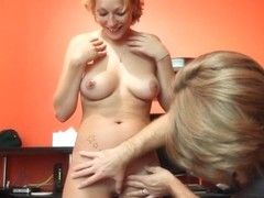 Experienced blonde got her perfectly shaved pussy filled up with hard dick and liked it
