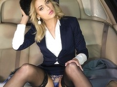 Classy New Cummer Ria Sunn Gets Destroyed In The Back Of A Limo - Private