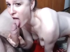 small tits canadian wife deepthroats huge cock
