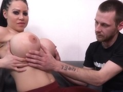 Sanna is getting her tight ass hole destroyed from fucking and moaning from pleasure while cumming