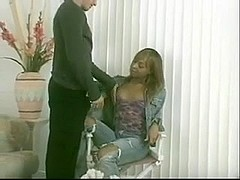Ebony TS doll in hot scenes