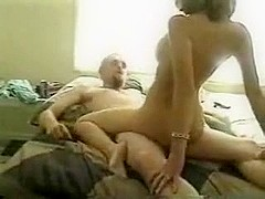 Hot cowgirl from France rides dick in bed