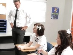 Shelby Good and Allison Rey in Threeway Lesson