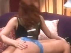 Latex lesbian humiliation sex video of hot babe