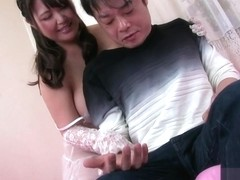 Cute Japanese Girl Laced Glovejob