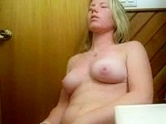 Masturbation in the bathroom