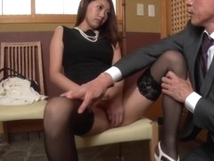 Spicy office milf, Miki Aimoto, Asian amateur porn on cam