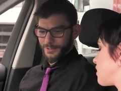 Cadey Mercury learns to drive cock shift for her driver's license