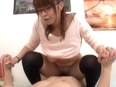 Crazy Japanese girl Sumire Matsu in Horny Stockings/Pansuto, POV JAV clip
