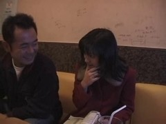 Busty Japanese hottie screwed during karaoke party
