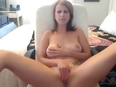 Blonde MILF Banana Masturbation Cam