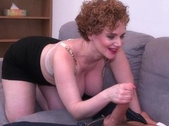 Experienced European milf with curly hair, Merce is giving pleasure to a man she likes a lot