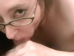 Curvy housewife Audrey Alder is sucking some dick
