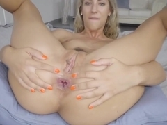 Ravishing blonde cock teaser, Shona River sucks cock and ants it up her tight ass