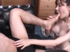 girl licks male feet