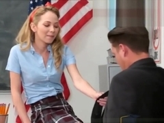 Horny College Teen Schoolgirl Fucked By Helpless Tutor