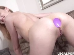 Seductive sweetheart is sucking dick balls deep to make it hard enough for her ass hole