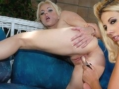 Angela Stone And Genesis Skye In Outdoor Lesbian Action - Upox