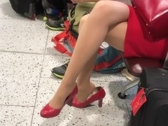 British airways hostess heels play