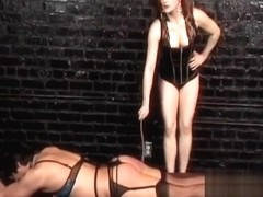 Naughty stud enjoys getting pleasured by Mistress Gemini in