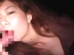Horny Japanese girl Aki Katase in Amazing Blowjob, Outdoor JAV clip