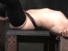 Bound Bdsm Sub Pounded By Black Maledom