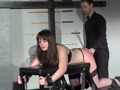 Lisa spanks and whips to teach her slave who's in charge