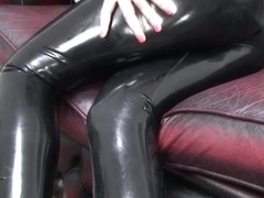 Coral-May Hall in Black Jacket and Leggings - LatexHeavenVideo