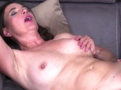 Horny mature and her toy- boy are fucking all day long and moaning while cumming