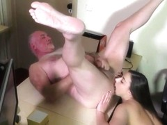 The boss fucks his secretary in the office