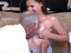 Big Tits Teen Swallowing Cocks Of Couple Of Elderly Grandpas