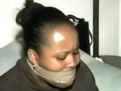 ebony black women wrap gagged