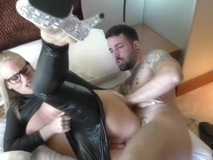 He loves to fuck her in her latex outfit