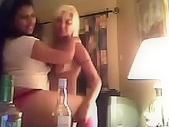 Couple of soaked Bulgarian web camera doxies flash their pointer sisters and twats