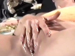 Trailer trash sub - more close-up fisting and major squirt