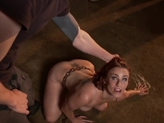 Exotic fetish adult video with crazy pornstars Bella Rossi and Owen Gray from Dungeonsex