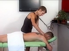 Vivid and dirty gay fucking in a massage salon