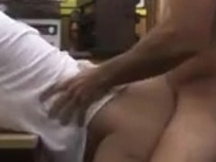 Massive boobs business lady fucked for her plane ticket