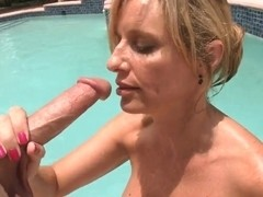 NETTIE: Jodi west handjob by pool