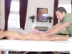 Alison star porn babe gets erotic massage