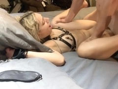 HELPLESS TEEN STRAPPED TO BED AND FUCKED - PROPER SLAVE TRAINING SLUT