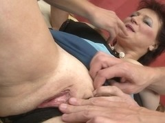 Big Breasted Mature Lady Sucking And Fucking Two Guys - MatureNL